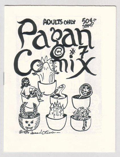 PAGAN COMIX #7 mini-comic JANE J. OLIVER Al Greenier YASSI KNODEL 1986