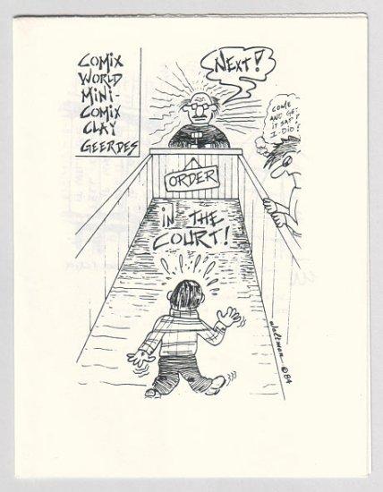 ORDER IN THE COURT mini-comic JAMES WALTMAN underground comix minicomix 1984