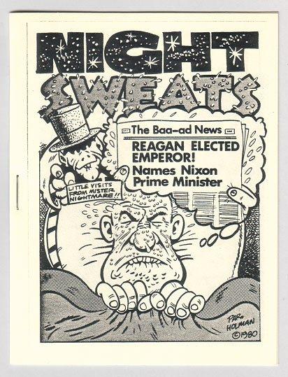 NIGHT SWEATS mini-comix BRAD FOSTER Par Holman STEVE FIORILLA 1982