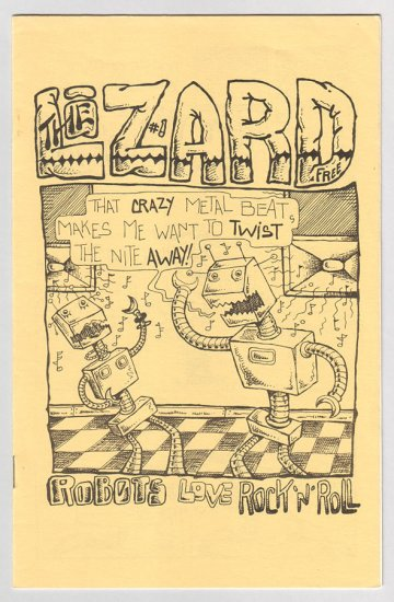 THE LIZARD #1 mini-comix MIKE URBAN 1983