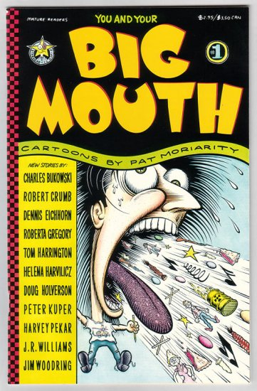 BIG MOUTH #1 underground comix R. CRUMB Harvey Pekar JIM WOODRING Charles Bukowski 1992