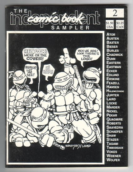 INDEPENDENT COMIC BOOK SAMPLER #2 mini-comic HARVEY PEKAR Matt Feazell BEN EDLUND TMNT 1988