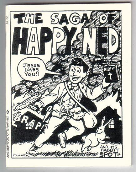 SAGA OF HAPPY NED mini-comix COLIN UPTON evangelist parody 1994