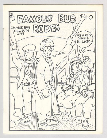 FAMOUS BUS RIDES #2 Canadian mini-comix COLIN UPTON 1980s