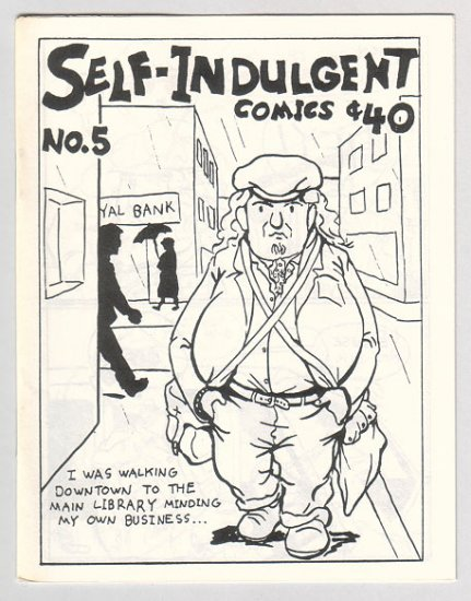 SELF-INDULGENT COMICS #5 Canadian mini-comix COLIN UPTON 1980s