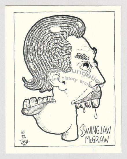 original art DAVID TOSH signed comix art 1986