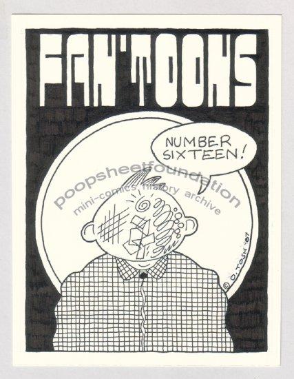 original art DAVID TOSH Scratchface Fan'toons cover signed 1987