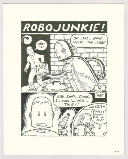 original art DAVID TOSH robot comix 1987
