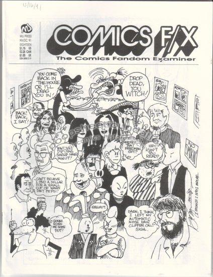 COMICS FX #18 mini-comix reviewzine STEVE WILLIS Roberta Gregory 1991