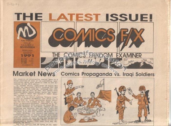 COMICS FX #17 mini-comix reviewzine JIM SIERGEY Matt Feazell 1991