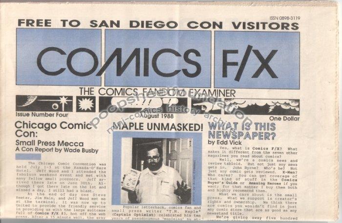 COMICS FX #4 mini-comix reviewzine TIM CORRIGAN Matt Howarth WAYNO 1988
