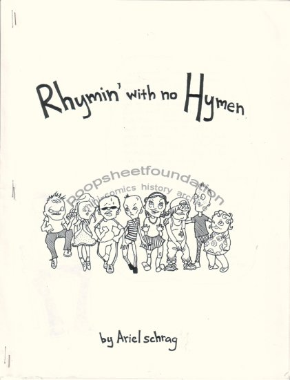 RHYMIN' WITH NO HYMEN mini-comix verse ARIEL SCHRAG