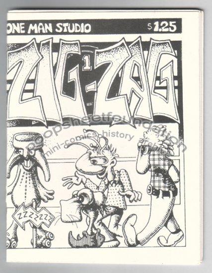 ZIG-ZAG #1 mini comix XNO Edward Bolman STEVE WILLIS 1987