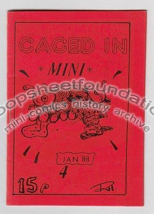 CAGED IN #4 British underground RICH HOLDEN art brut mini comic UK