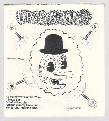 DREEEM VIRUS Canadian art brut mini-comix GREGORY K 1995