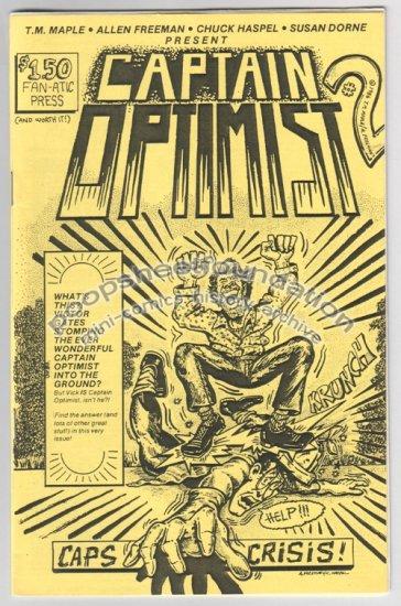CAPTAIN OPTIMIST #2 mini-comic T.M. MAPLE Allen Freeman CHUCK HASPEL 1986