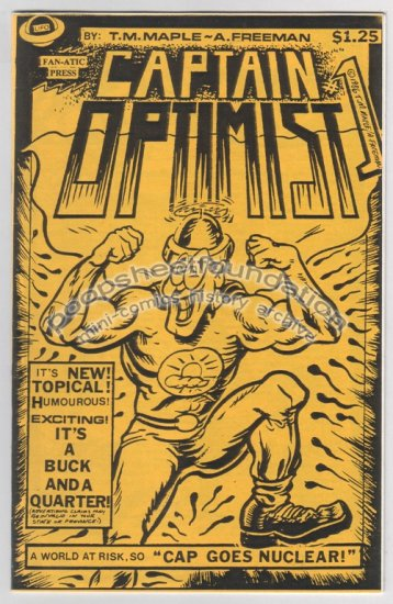CAPTAIN OPTIMIST #1 mini-comic T.M. MAPLE Allen Freeman 1986