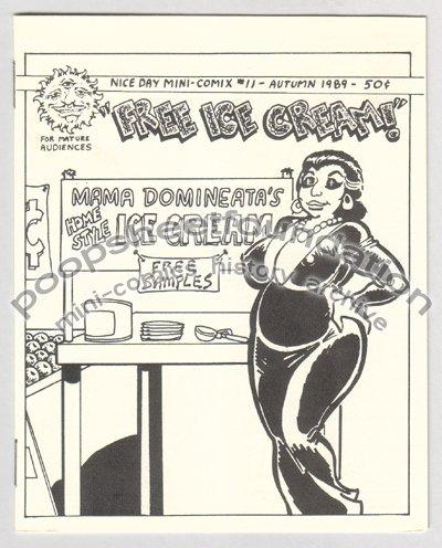 FREE ICE CREAM mini comix RANDY H. CRAWFORD Robert Outlaw NICE DAY 1989