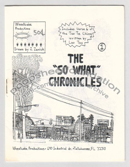 SO WHAT CHRONICLES #1 mini-comic JEFF ZENICK 1990