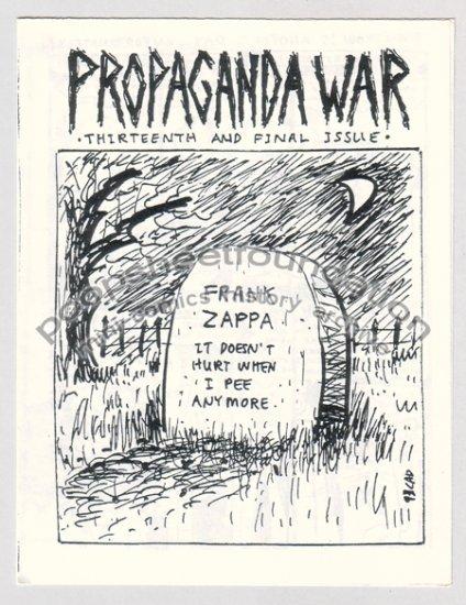 PROPAGANDA WAR #13 mini comix CLARK DISSMEYER CAD 1993