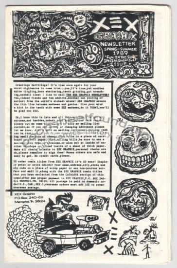XEX NEWSLETTER #9 mini comix art brut XNO Roy Tompkins J.R. WILLIAMS R.K. Sloane 1989