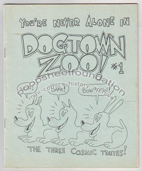 DOGTOWN ZOO #1 mini comix STEVE WILLIS 1982 1st