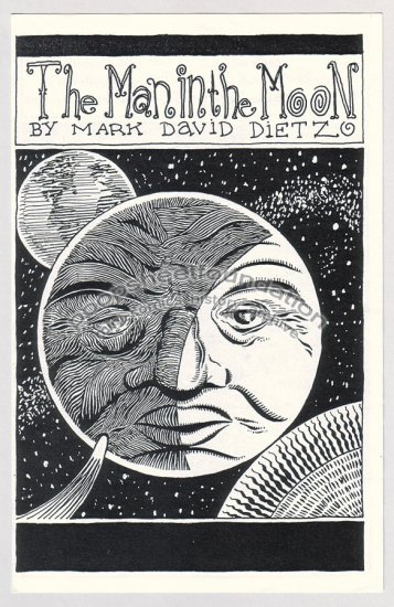 MAN IN THE MOON mini comic MARK DAVID DIETZ 1995