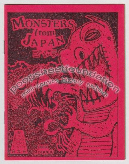 MONSTERS FROM JAPAN mini comix MICHAEL RODEN Bob X Japanese monsters art brut 1984