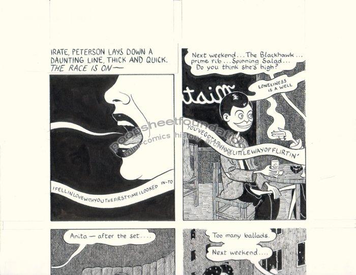 John Hankiewicz ORIGINAL ART comic MOME Those Eyes page 4 2007