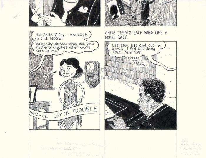 John Hankiewicz ORIGINAL ART comic MOME Those Eyes page 3 2007