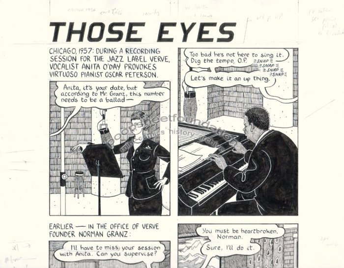 John Hankiewicz ORIGINAL ART comic MOME Those Eyes page 1 2007