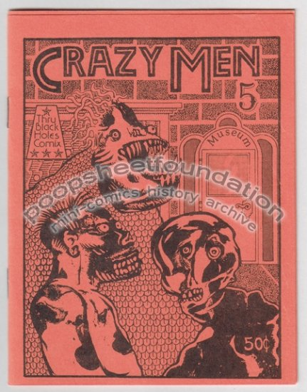 CRAZY MEN #5 mini comix MICHAEL RODEN Jim Ryan art brut 1984