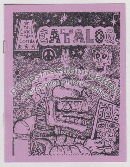 THRU BLACK HOLES COMIX CATALOG #1 Michael Roden art brut 1984