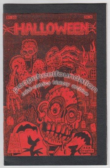 HALLOWEEN COMIX #4 art brut horror comics MICHAEL RODEN Bob X XNO 1984