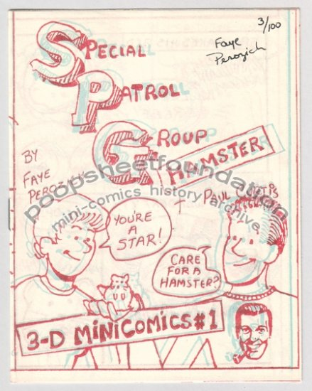 SPG HAMSTER 3-D mini comic PAUL CURTIS Faye Perozich SIGNED 1986