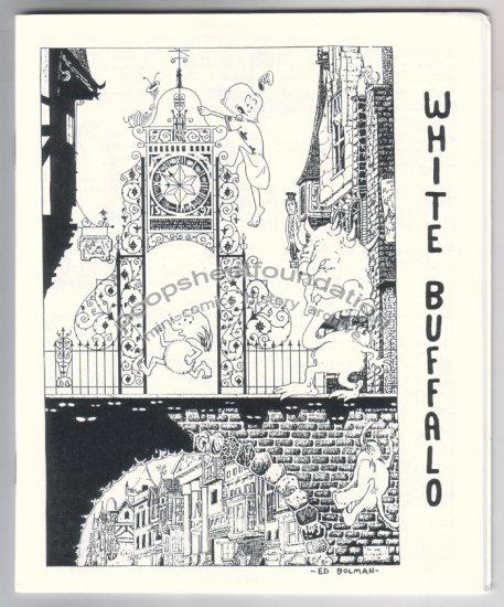 WHITE BUFFALO mini-comix EDWARD BOLMAN Jeff Zenick JOHN PORCELLINO 1999
