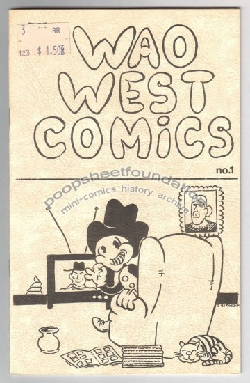 WAO WEST COMICS #1 obscure underground comix JIM BERGESON signed 1983