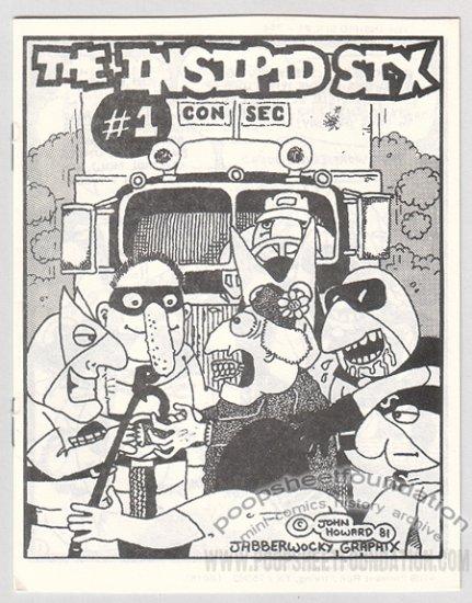 INSIPID SIX #1 underground comix mini JOHN HOWARD Jabberwocky 1981