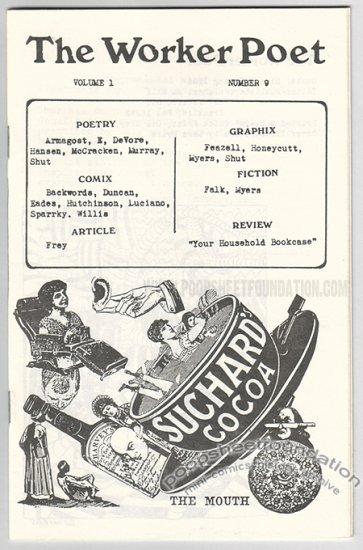 THE WORKER POET #9 comix zine ACE BACKWORDS Matt Feazell STEVE WILLIS 1986