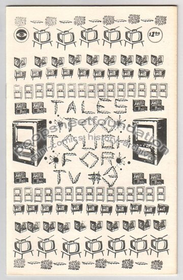 TALES TOO TOUGH FOR TV #3 underground comix mini 1980