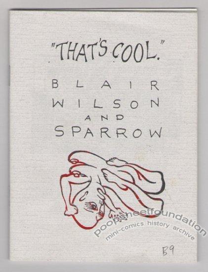 THAT'S COOL art brut mini-comix BLAIR WILSON Sparrow 1992