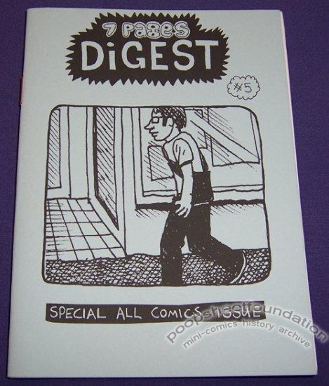 7 PAGES DIGEST #5 Australian mini-comic ANTHONY WOODWARD 2006