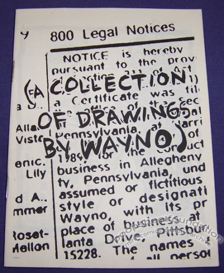 800 LEGAL NOTICES mini-comix WAYNO 1989