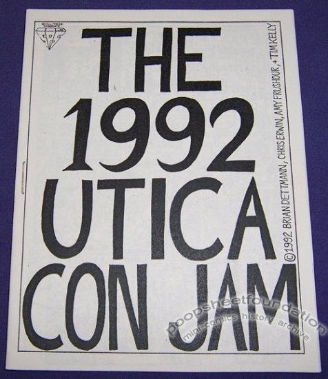 1992 UTICA CON JAM mini-comic TIM KELLY Amy Frushour BRIAN DETTMANN 1992