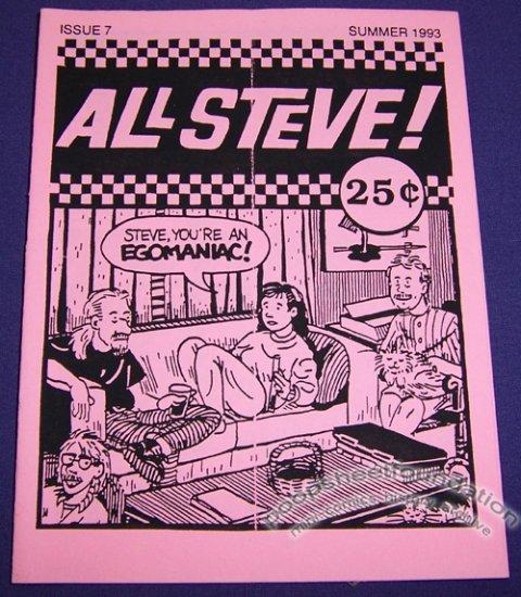 ALL STEVE COMICS #7 mini-comic STEVE LEACH 1993