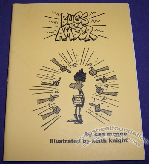 BUGS IN AMBER mini-comic chapbook KEITH KNIGHT Cas McGee WACKY PACKAGES 2001