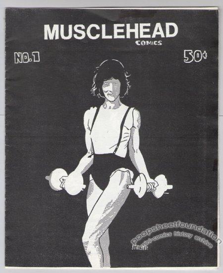 MUSCLEHEAD COMICS #1 mini-comic STARLEN BAXTER Bill Widener 1985