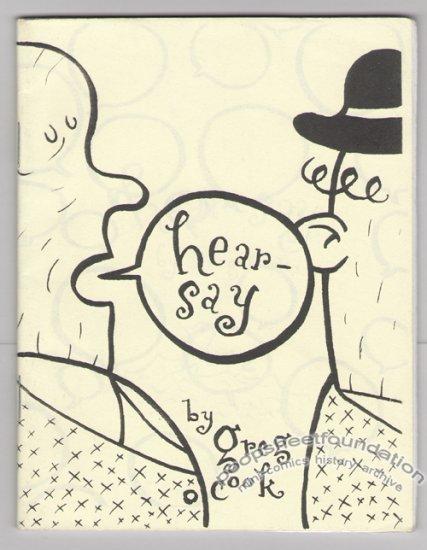 HEARSAY mini-comic GREG COOK Highwater Books 2000