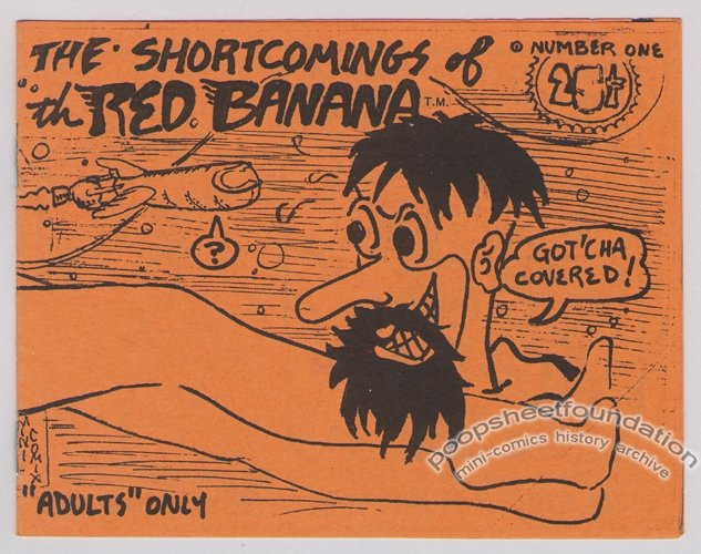 SHORTCOMINGS OF THE RED BANANA #1 underground comix ROGER MAY mini 1976