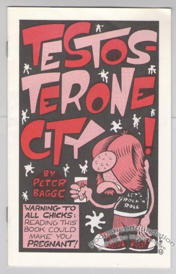 TESTOSTERONE CITY mini-comic PETER BAGGE Starhead 1994